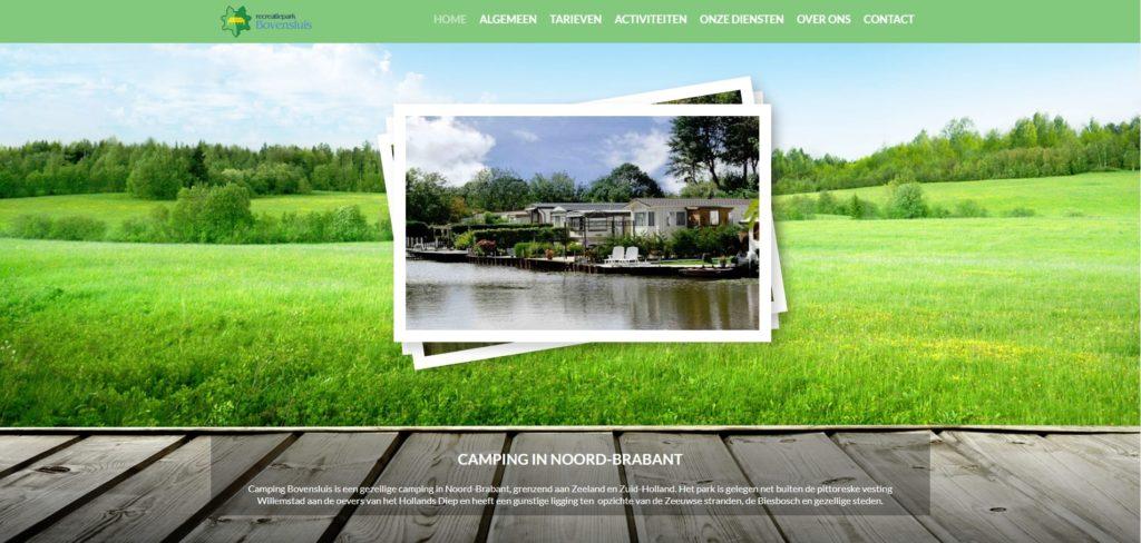 Realisatie website Camping Bovensluis
