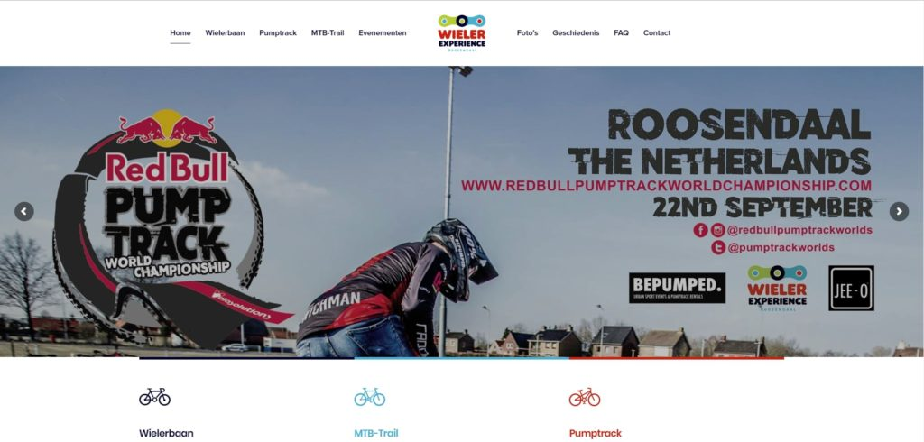 Realisatie website WielerExperienceRoosendaal