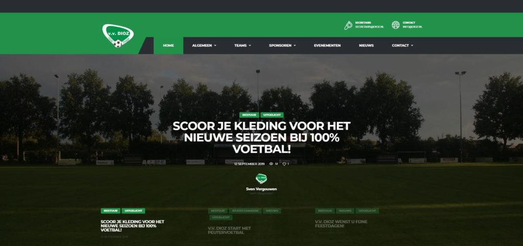 Realisatie website v.v. DIOZ