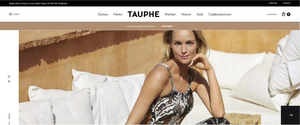 Realisatie webshop Tauphe