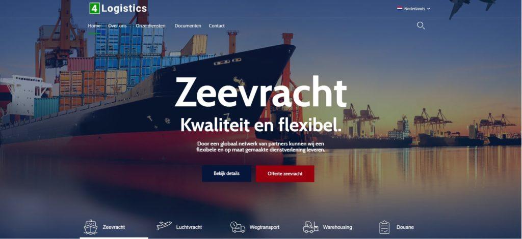 Realisatie website 4 Logistics